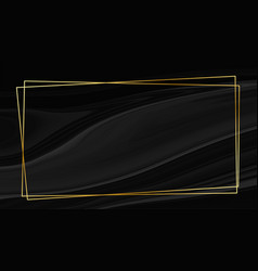black marble style background with golden frame vector image