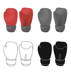 boxing gloves icon in cartoon style isolated on vector image