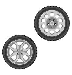 Car wheel set vector image vector image
