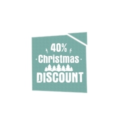 Christmas and new year sale label tag with a vector