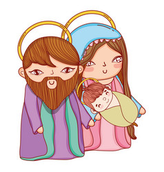 Christmas nativity scene cartoon vector
