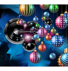 Christmas Party Flyer for music night events club vector image