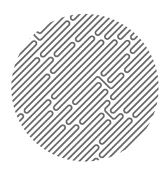 Circle filled with diagonal maze pattern vector image