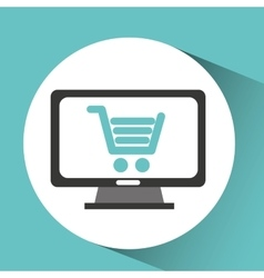 computer device online shopping network icon vector image