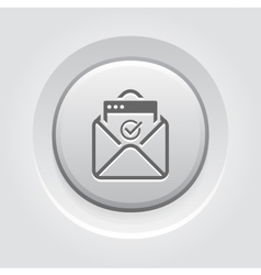 Confirmation Letter Icon Grey Button Design vector