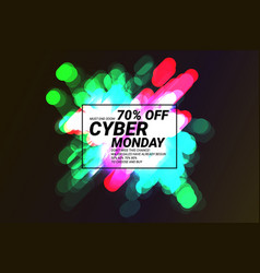 cyber monday shiny sale banner vector image
