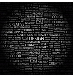 design word cloud tag cloud concept collage vector image