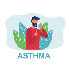 Different types diseases asthma vector