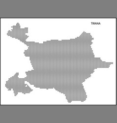 dotted map tirana vector image
