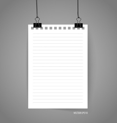 Empty note papers ready for your message vector image