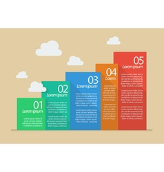 Flat style five steps infographic vector