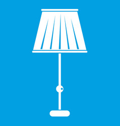Floor lamp icon white vector