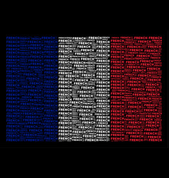 french flag collage of french text items vector image