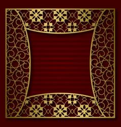 Golden cover background patterned frame vector