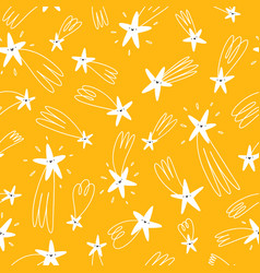 golden falling stars seamless pattern vector image