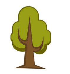 green tree and tree leaf icon or logo template vector image
