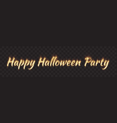 Happy halloween party banner vector