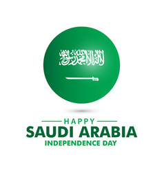 Happy saudi arabia independence day template vector