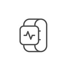 health tracker line outline icon vector image