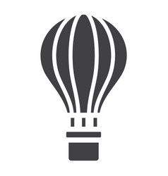 Hot air balloon glyph icon transport and air vector
