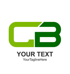 initial letter cb logo design template element vector image