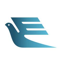Letter e bird express logo icon vector