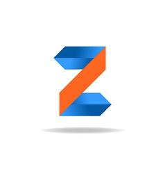 letter z website logo design element vector image