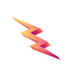 Lightning shape icon vector