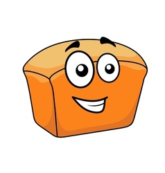 Loaf of crusty white bread with a happy face vector image