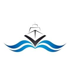 Logo speed marine craft vector