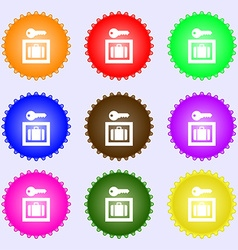 Luggage Storage icon sign A set of nine different vector image