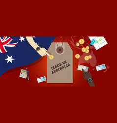 made in australia price tag badge vector image