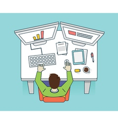 Management and business vector