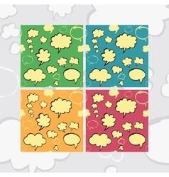 Marker Speech Bubbles Seamless Pattern Set vector