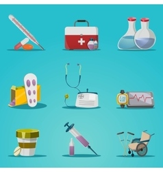Medicine And Treatment Icon Set vector