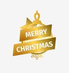 merry christmas christmas ball with star and vector image