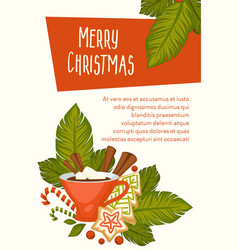 merry christmas symbolic images new year vector image