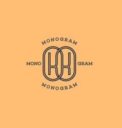 Monogram kk vector