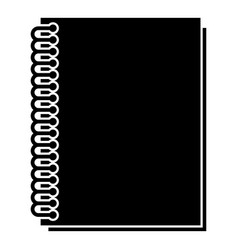 notebook with spring icon black color flat style vector image