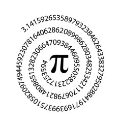 number pi icon flat design vector image