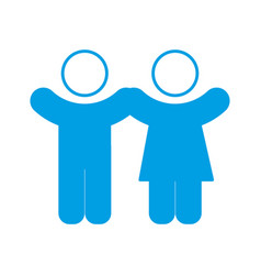 Pictogram couple of woman and man icon vector