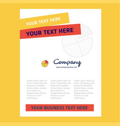 pie chart title page design for company profile vector image