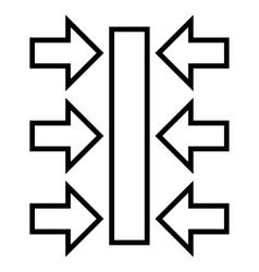 Pressure Horizontal Stroke Icon vector