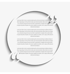 Quote Circle Blank Template Bracket vector