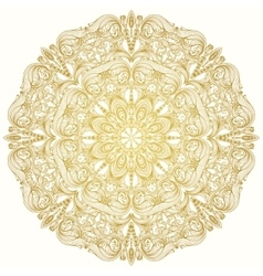 Round decorative lacy vintage ornament vector image