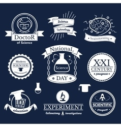 Science signs set vector image