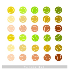 Set of Tennis Balls on White Background vector image