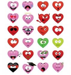 Smiley hearts vector