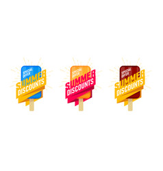 Special offer summer sale set advertising label vector