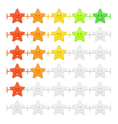 stars feedback emoticon bar vector image